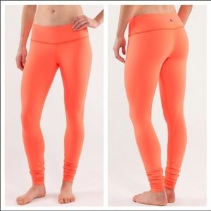 lululemon athletica Pants - Orange Lululemon Wonder Under Pants